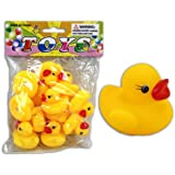 12er Set Bade Ente, Badeente, je ca. 3,5cm, Quietsche-Entchen, Quietsch-Enten