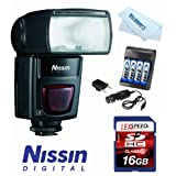 Nissin ND622MKII-C Speedlite Di 622 Mark II Flash System for Canon + Charger + 16GB Kit