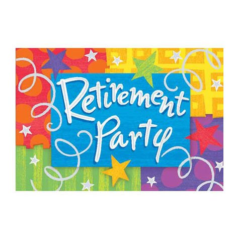 Happy Retirement Invitations 8ct