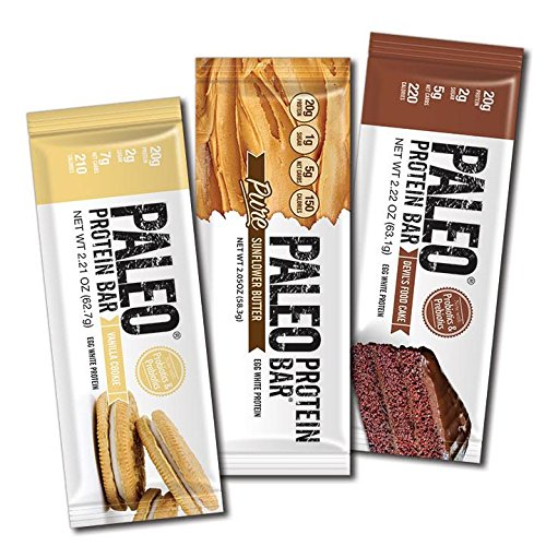 Paleo Protein Bars® Variety Box (New Flavors) (20g Protein) (12 Bars) w/Prebiotics Low Net Carb Gluten Free (Bakery Paleo Protein compare prices)