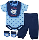 BON BEBE Baby-Boys Newborn Future All-star 4 Piece Pant Set