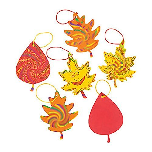Colorful Magic Color Scratch Fall Leaves - Crafts for Kids & Magic Scratch (Christian Crafts For Kids compare prices)