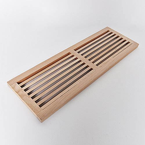 WELLAND® Hardwood Register Cold Air Return Wall Vent Unfinished, 8 inch x 32 inch, White Oak (Wall Air Vent compare prices)