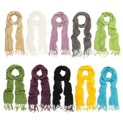 scarves solid color fringe scarf different