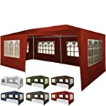 Marquee 3m x 6m Red with Waterproof S...