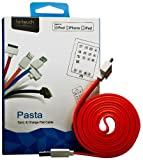 Le Touch USA Pasta-PK PASTA USB Sync and Charging CabLe for iPhone 4/4S - Retail Packaging - Pink