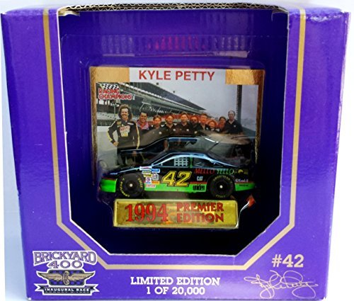 Racing Champions Brickyard 400 #42 Kyle Petty 1994 1/64 scale diecast replica with collectible cardPremier Edition Limited Edition #1986 of 20,000 - 1