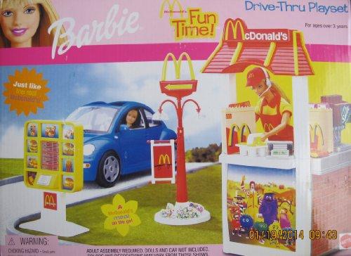 what is the price for barbie mcdonald s fun time drive thru playset w menu board 2001 mujesira stolartyer