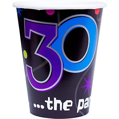 30 the Party Continues Paper Cups Package of 8
