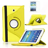 CYBERSTORE2020® New 360 Degree Rotating Case Cover For Samsung Galaxy Tab 3 7