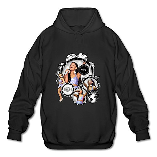 BOOMY Ariana Grande Poster Man's Hoodie Sweatshirt SIZE M (Midnight New York Perfume compare prices)