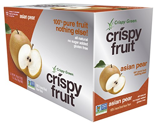 Crispy Green 100% All Natural Freeze-Dried Fruits, Asian Pear, 0.36 Ounce (12 Count) (Green Mango Fruit compare prices)