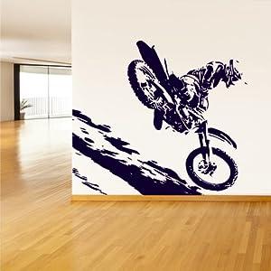 Wall vinyl sticker decals decor art bedroom for Dirt bike bedroom ideas