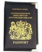 New UK & European Passport Holder PU Leather Protector Cover Wallet with Pockets