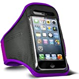 Fone-Case Blackberry Curve 9360 Adjustable Sports Fitness Jogging Arm Band Case (Purple)