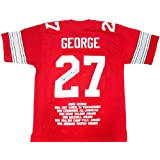 Eddie George Autographed Signed Ohio State Buckeyes Red Custom NCAA Jersey with H.T. 95... by Radtke+Sports