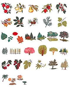 Brother Machine Embroidery Designs Bomen on Usb Stick by Brother