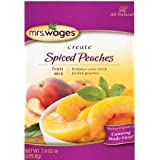 Mrs. Wages Spiced Peaches Fruit Mix (VALUE Pack of 3 pouches - all natural to enhance your peaches)