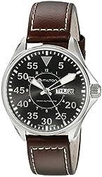 Hamilton Men's H64425535 Khaki Night Pilot Black Day Date Dial Watch
