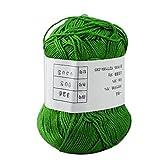 ノーブランド品 竹の繊維 テンセル 毛糸 編み糸 緑 50g セーターを編む 70%竹の繊維 30%テンセル