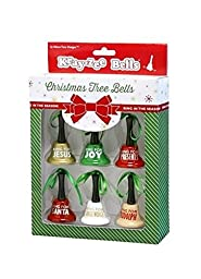 Christmas Tree Bells Ornament Set of Six
