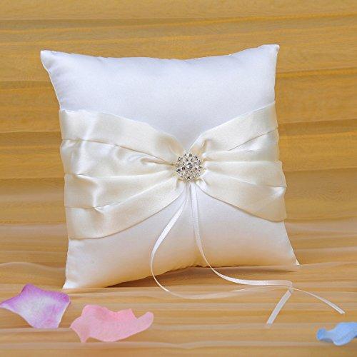 topwedding white satin wedding flower girl basket and ring pillow set with rhinestones religious. Black Bedroom Furniture Sets. Home Design Ideas