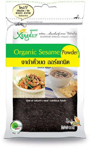 Thai Organic Black Sesame Powder 100G - Nutrient & Healthy Food