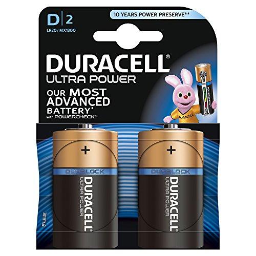 Pile LR20 Ultra Power HAL DURACELL, 2 unités