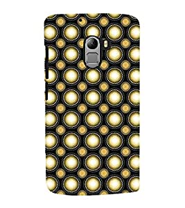 Fuson Premium Back Case Cover Polka dots pattern With red Background Degined For Lenovo K4 Note