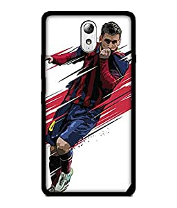 Chnno 2d messi Printed Back Cover For Lenovo Vibe P1M No- 1677