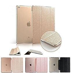 ProElite(TM) Premium Flip Case cover for Apple iPad mini 3 mini 2 mini 1 Tablet (Gold) (Sleep/Wake)