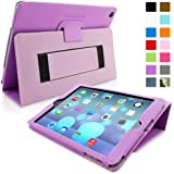 iPad Air (iPad 5) Case, Snugg™ - Smart Cover with Flip Stand & Lifetime Guarantee (Purple Leather) for Apple iPad Air (2013)