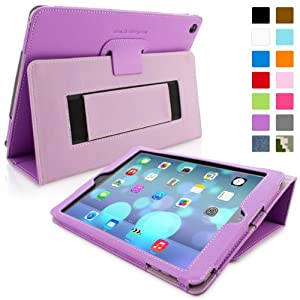 Snugg™ iPad Air (iPad 5) Case - Smart Cover with Flip Stand & Lifetime Guarantee (Purple Leather) for Apple iPad Air (2013)