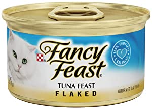Purina Fancy Feast Canned Cat Food Flaked Tuna 3oz Case(24)