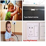 Baby-Safety-Starter-Kit-18-PIECE-SET-Includes-Cabinet-Locks-Multipurpose-Latches-to-Baby-Proof-Cabinets-Drawers-Fridge-Dishwasher-Toilet-Seats-Bonus-Door-Stopper-Outlet-and-Corner-Guards