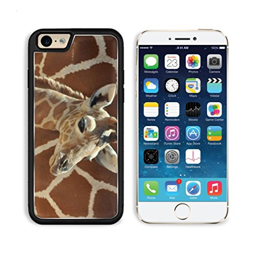 Giraffe Small Calf Face Pattern Cute Baby Africa Wildlife Animal Apple Iphone 6 Tpu Snap Cover Premium Aluminium Design Back Plate Case Customized Made To Order Support Ready Luxlady Iphone_6 Professional Case Touch Accessories Graphic Covers Designed Mod front-1071235