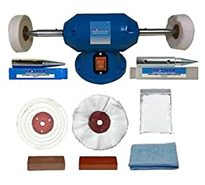 Jewellery Polishing Machine - Pro-Max 200w Bench Grinder With 8pc Jewellery Polishing Kit.