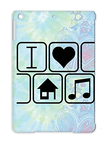 Music Gift House I Love Music Red Type Sport Remix Heart Celebration Occasion Techno Dance Electronica Beats Sound Electro Fashion Sweet Bass Disco Black For Ipad Air 2 F1 Tpu Case
