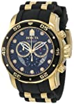 Men's 6981 Pro Diver Collection Chronograph Black Dial Black Polyurethane Watch by Invicta