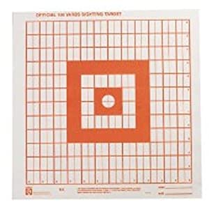 Hoppe's No. 9 100-Yard Fluorescent Orange Target Paper (Pack of 100)