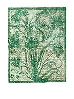 CarpeTrade Alfombra Persian Vintage (Verde/Beige)
