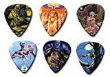 Iron maiden Set of 6 Loose Médiators Picks ( Collection A )
