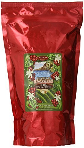 Hawaii Roasters 100% Kona Coffee, Medium Roast, Whole Bean, 14-Ounce Bag By Hawaii Roasters [Foods]