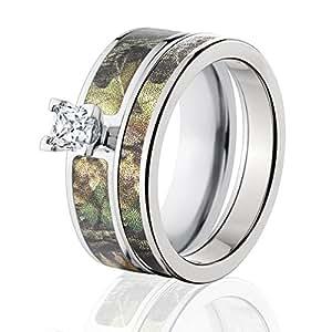 Amazon Mossy Oak Camo Bridal Set Camo Wedding Rings New Break Up Camo Rings Jewelry
