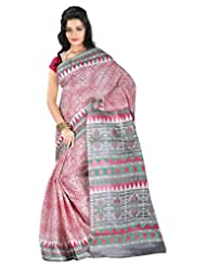 Roopkala Silks & Sarees Cotton Silk Saree With Blouse Piece (Bp-129 _Pink)