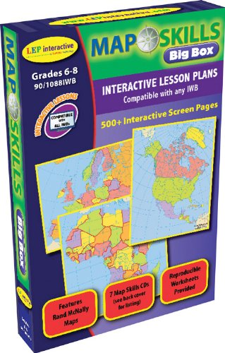Map Skills: Iwb Big Box Cds: Ready-To-Use Digital Lesson Plans (Interactive Whiteboard Software, Iwb Software Cd)