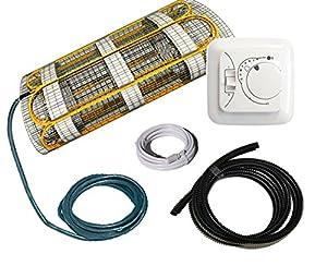 KomplettSet elektrische Fußbodenheizung BZ100 / 1,2 m² / 0,5 m x 2,4 m  BaumarktÜberprüfung und weitere Informationen