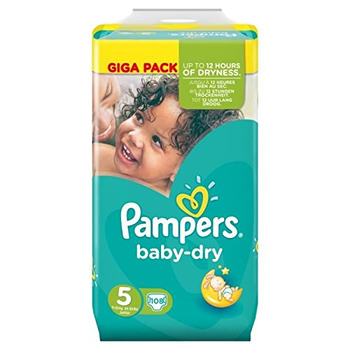 Pampers - Baby Dry - Taglio 5 - 108 Pannolini (2X54) 11-25Kg