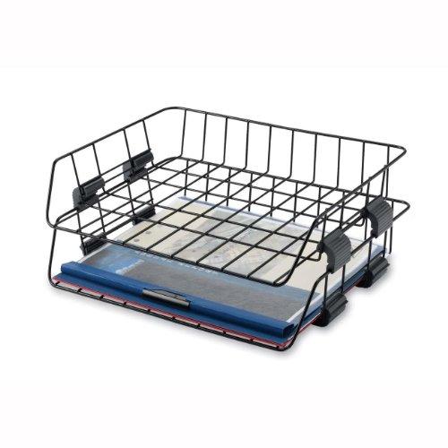 Sparco Wire Desk Tray, Letter, Side Load, 2 per Box, Black (SPR52772) (Letter Tray Wire compare prices)