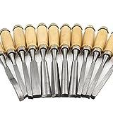 品質良好 12本セット 彫刻刀 大工道具 工具 のみ 鑿 篆刻刀 工作 木彫り 彫刻 版画 DIY 仏像彫刻 木工道具 作業工具